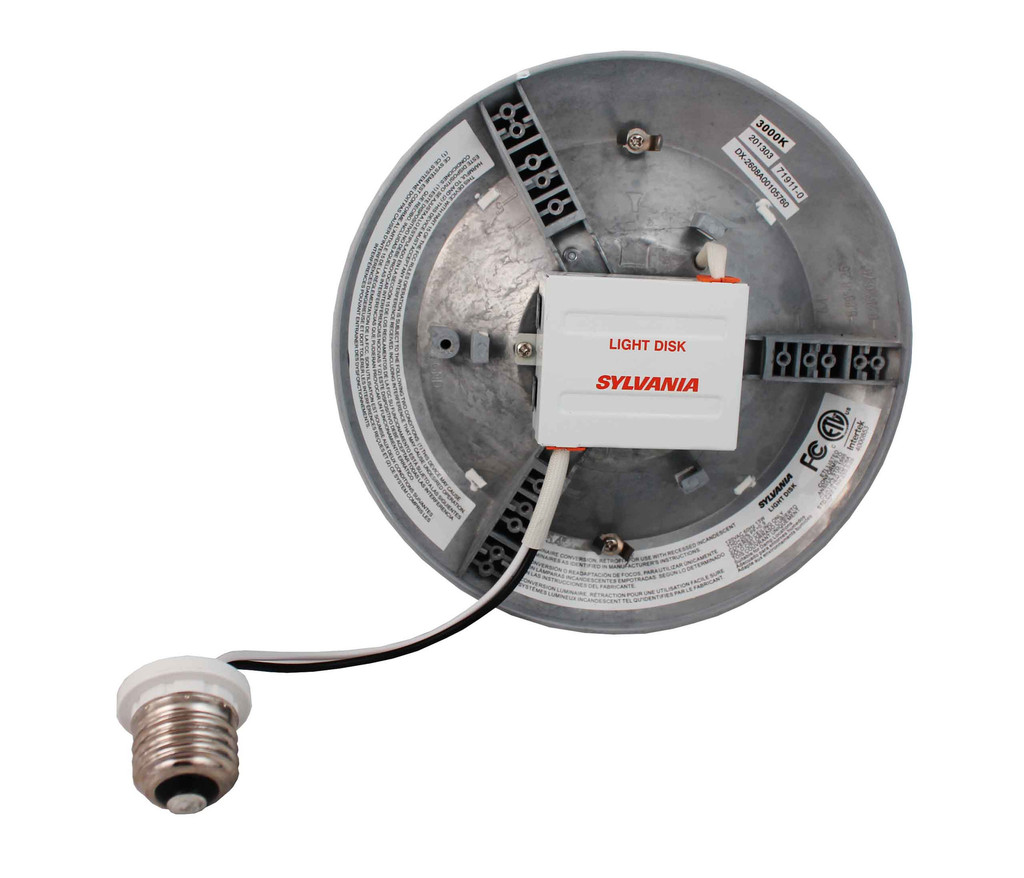 ultra light disk led recessed and surface mount downlight kit from