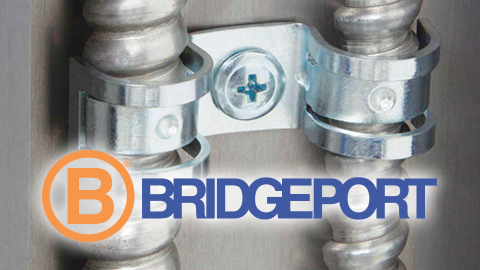 Bridgeport Fittings introduces Duplex Universal Steel One Hole Strap