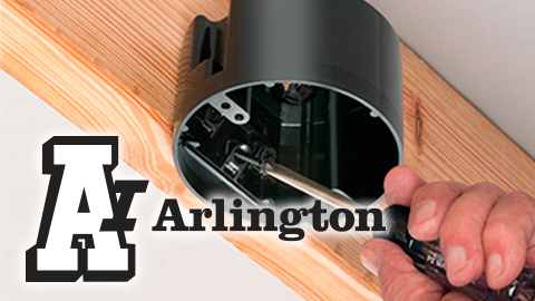New from Arlington Non-Metallic ONE BOX™ for Ceiling Fixtures