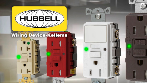 Hubbell Wiring Device-Kellems Introduces AFCI/GFCI Receptacle