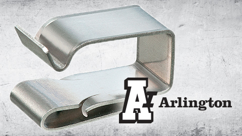New from Arlington Snap-On Wire Clip in Stainless Steel